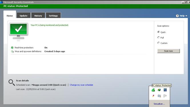 برنامج Microsoft Security Essentials