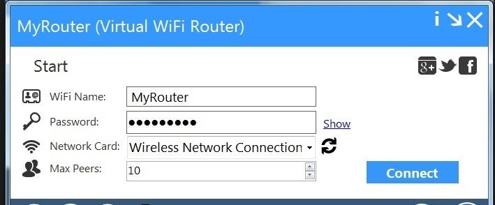 برنامج Virtual Wifi Router 2018