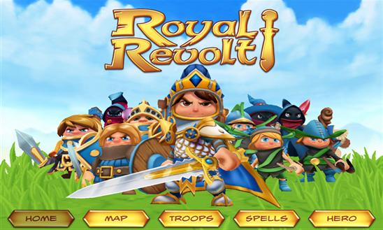 تحميل لعبة حرب المملكة Royal Revolt