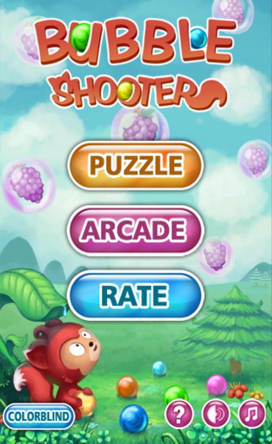 لعبة الكرات المتحركة الملونة Bubble Shooter