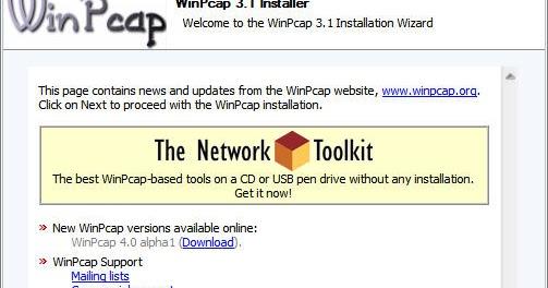 تحميل برنامج Winpcap 2018للكمبيوتر