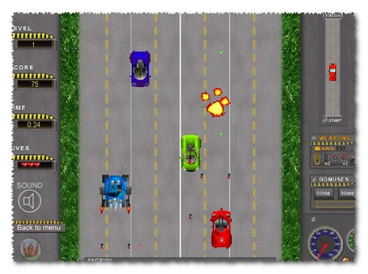 Road Attack game