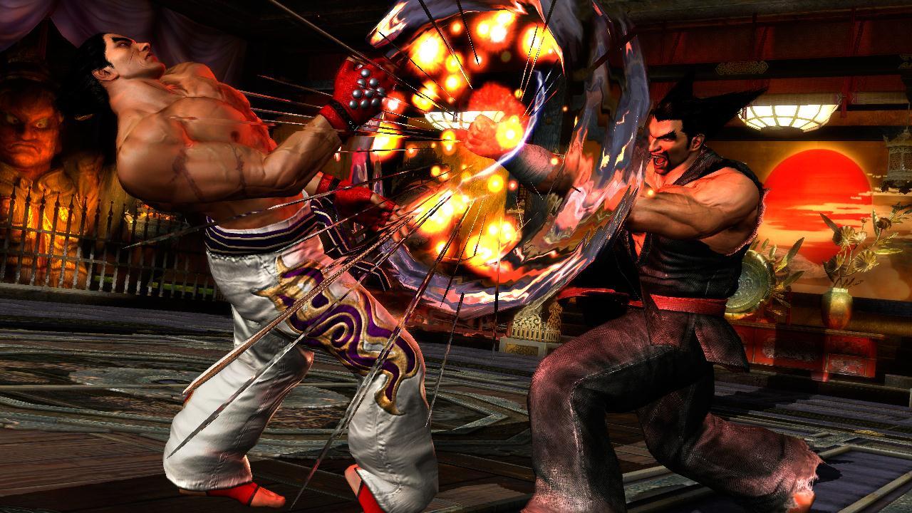 الاكشن في لعبة Tekken Tag Tournament