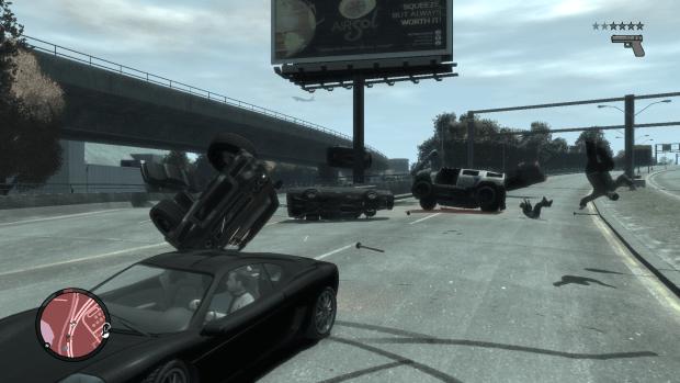 تعدد السيارات في Carmageddon – GTA IV