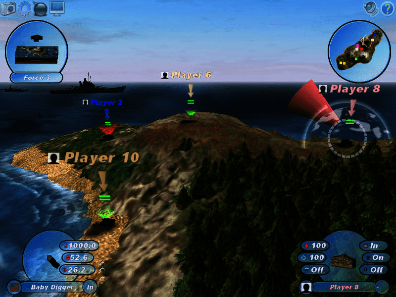 الاكشن في لعبة Scorched3D