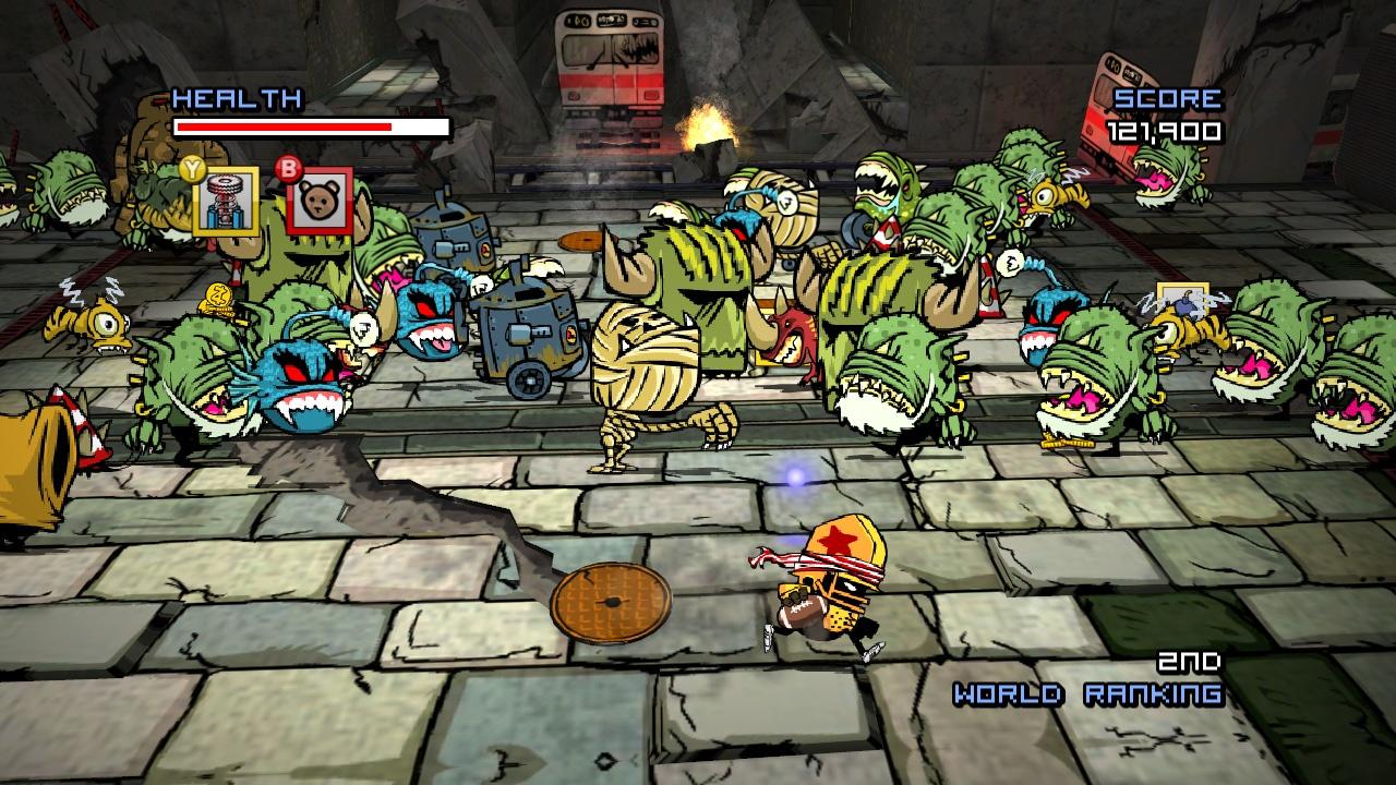 الاكشن في لعبة Zombie Football Carnage
