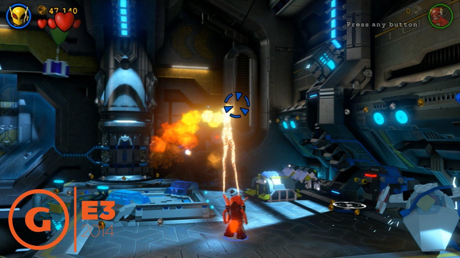 الحركة في لعبة Lego Batman Demo