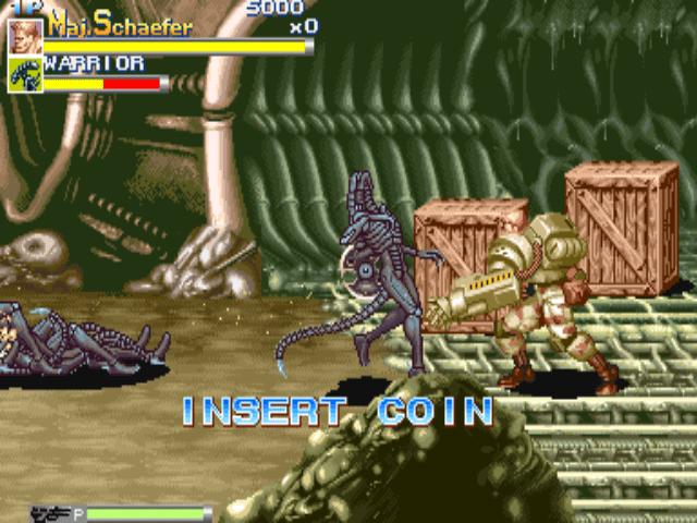القتال في لعبة Alien Vs Predator MUGEN